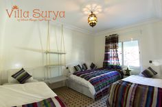 Villa Surya Room Itri triple room ensuite bathroom Yoga holidays Morocco - travel with a budget