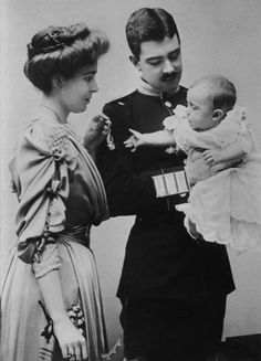 """""""The Duchess and Duke of Scania with their eldest son Gustav Adolf, Duke of Vasterbotton. Princess Alice, Princess Margaret, Prince And Princess, Queen Victoria Family, Victoria And Albert, Kingdom Of Sweden, Alexandra Of Denmark, Queen Of Sweden, Royal Monarchy"""