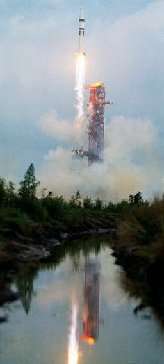 The Skylab 2 crew launches