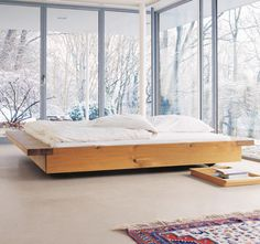 Tatami wooden double bed, design by Philippe Allaeys Dream Bedroom, Home Bedroom, Winter Bedroom, Bedrooms, Upstairs Bedroom, Attic Bathroom, Dream Rooms, Interior Architecture, Interior And Exterior