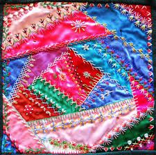 finished crazy quilt block 84 pinterest - Google Search