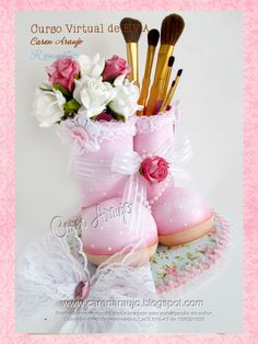 Clay Pen, Pot A Crayon, Foam Sheets, Air Dry Clay, Cold Porcelain, Baby Shower, Diy Crafts, Table Decorations, Bb