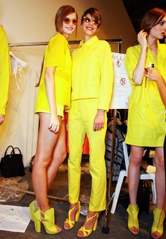 Yellow Separates Backstage #fashiondilemma #motilostylist How to Wear Yellow