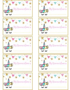Unicorn Nametag If your little one is wanting a unicorn-themed birthday party, then this Unicorn Party Name Game printable and name tags are a must! Diy Unicorn Birthday Party, Rainbow Unicorn Party, Unicorn Birthday Invitations, 10th Birthday Parties, Birthday Party Decorations, 7th Birthday Party For Girls Themes, Birthday Ideas, Unicorn Names, Carton Invitation
