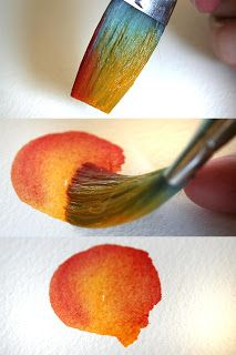 How to make watercolor petals. So simple but so pretty