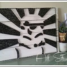 Storm Trooper - String Art - All Strung Up Project Ideas, Art Projects, Projects To Try, Easy Crafts For Kids, Cute Crafts, Yarn Wall Art, Gift Boyfriend, String Theory, Art Archive