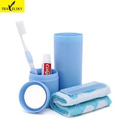 Travel Accessories Travel Set Wash Cups Portable Storage Box Toothbrush Cup Tumbler Women Travel Wash Gargle Cup Free shipping