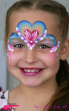 Easy butterfly face painting ideas heart princess face painting design decorating ideas for dining room . Tattoo Girls, Girl Face Tattoo, Girl Tattoos, Princess Face Painting, Girl Face Painting, Eye Painting, Painting Tattoo, Face Paintings, Face Painting Tutorials