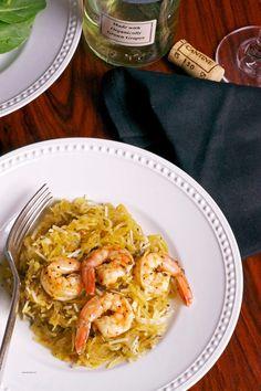 Spaghetti Squash Shrimp Scampi for #SundaySupper