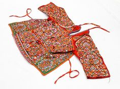 RABARI BANJARA TRIBAL ETHNIC KUCHI BELLY DANCE OLD INDIAN CHOLI TOP -  $45.87