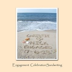 Engagement Personalized 8x10 Sandwriting on Etsy, $28.00
