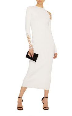 Gabrielle Lace Up Midi Dress by Cushnie et Ochs | Moda Operandi