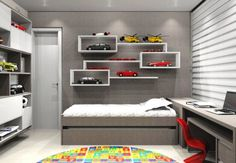 40 Best Teen Bedroom Ideas That Anyone Will Want To Copy - Smart Women Life Teen Bedroom, Bedroom Decor, Decorating Bedrooms, Kids Room Design, Boy Room, Furniture, Home Decor, Ideas, Toy Car Storage