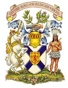 Nova Scotia coat of arms- The coat of arms of the province of Nova Scotia is the oldest provincial achievement of arms in Canada, and the oldest British coat of arms outside Great Britain. It was granted in 1625 by King Charles I for the first Scottish colony on the Canadian mainland. The arms were also borne by the Baronets of Nova Scotia, a chivalric oath.