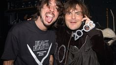 Dave Grohl  and Jack Black during MTV's New Year's Pajama Party 2003 - Show at MTV Studios Times Square in New York City (Photo by Dimitrios Kambouris)