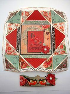 Pinkcloud Scrappers: Napkin Fold Card