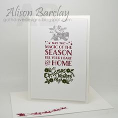 Gothdove Designs - Alison Barclay - Stampin' Up! Australia - Stampin' Up! Cozy Christmas - Clean & Simple stamping #stampinup #christmas #card