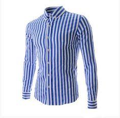 Men's Shirts | Bright Striped Dress Shirt