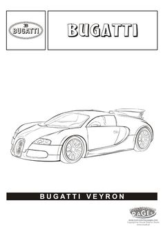 bugatti veyron cars coloring pages