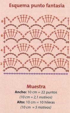 Discover thousands of images about punto fantasia para tejer chaleco y muestraCrochet Patterns Stitches fancy point to weave vest and sample Hexagon Crochet Pattern, Crochet Motifs, Crochet Borders, Crochet Diagram, Crochet Poncho, Crochet Chart, Filet Crochet, Love Crochet, Crochet Lace