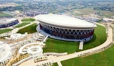 Philippine Arena aerial Faith Hope Love, Philippines, Mansions, House Styles, Christ, Sands, Manor Houses, Villas, Mansion