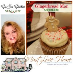 / Must Love Home //Gingerbread Man Cupcakes//Love taste of Gingerbread Men? Whip up adorable Gingerbread Man Cupcakes. Perfect for holiday potlucks and bake sales. Bakes in less than an hour!