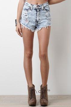 American Gals High Waist Shorts