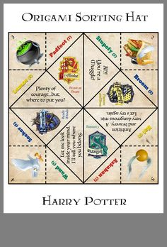 Harry Potter cootie catcher - Harry Potter cootie catcher The Effective Pictures We Offer You About crafts for adults A quality - Harry Potter Halloween, Harry Potter Motto Party, Cumpleaños Harry Potter, Harry Potter Classroom, Harry Potter Birthday, Harry Potter School, Harry Harry, Cadeau Harry Potter, Harry Potter Bricolage