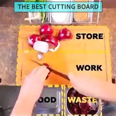 The Best Cutting Board Cool Kitchen Gadgets, Kitchen Hacks, Cool Kitchens, Cooking Gadgets, Cooking Tips, Best Cutting Board, How To Read A Recipe, Kitchen Must Haves, Home Hacks