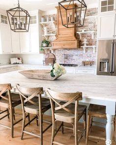 25 Ways To Style Grey Kitchen Cabinets Kitchen Decor Ideas Cabinets Grey Kitchen Style Ways Farmhouse Kitchen Cabinets, Modern Farmhouse Kitchens, Kitchen Cabinet Design, Home Kitchens, Rustic Farmhouse, Farmhouse Style, Dream Kitchens, Kitchen Cabinetry, Small Kitchens