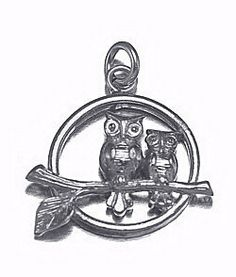 sterling silver mother daughter owl birds love charm Real Sterling silver 925 pendant Charm jewelryLike this item find it at https://www.etsy.com/shop/princeofdiamonds