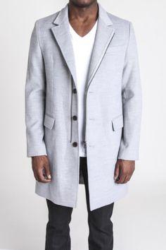 D by D Grey Overcoat