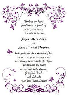 Free Printable Dark Purple Wedding Invitation Templates 100