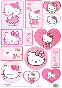 Hello kitty! ♡ XD ♡. I need to give out hello kitty valentines this year!