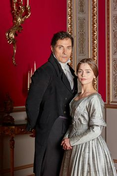 Jenna Coleman and Rufus Sewell as Victoria and Lord Melbourne.