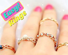 Picture of 5 DIY Easy Rings - Braided & No Tools!
