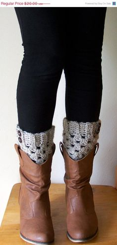 Oatmeal Boot Cuffs, Boot Toppers, Boot Socks, Leg Warmers, Ankle Warmers