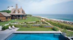 Architect Arthur C. Hanlon reinterprets classic Shingle style water front.