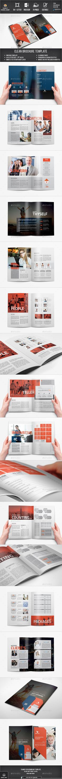 Brochure — InDesign INDD #brochure #identity • Available here → https://graphicriver.net/item/brochure/13439752?ref=pxcr