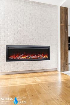 Our revolutionary electric fireplace has new and improved features like WiFi connectivity, crackling sound, and more. Install it anywhere you want, indoors or outdoors! Realistic Electric Fireplace, Built In Electric Fireplace, Electric Fireplaces, Fireplace Inserts, Fireplace Mantels, Birch Logs, Finishing Materials, Fire Glass, Face Design