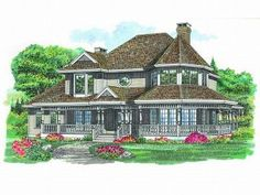 I absolutely LOVE this one too!!!  Victorian House Plan, 032H-0027