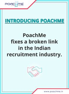Introducing PoachMe: Fixing a broken link in the Indian recruitment industry. To know more, read our blog post: http://www.poachme.in/blog/introducing-poachme-recruit-and-get-hired-confidentially?utm_source=pinterest&utm_medium=image&utm_campaign=quote04-confidentialityintro-c01-jan16 #poachmein #jobs #handshake