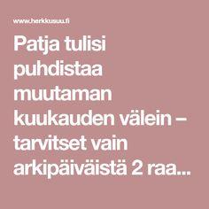Patja tulisi puhdistaa muutaman kuukauden välein – tarvitset vain arkipäiväistä 2 raaka-ainetta – Herkkusuu.fi