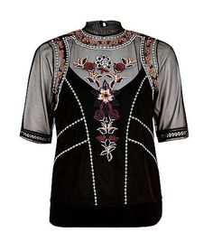 #top #embroidery #fashion #new #damesmode #River #Island #wehkamp