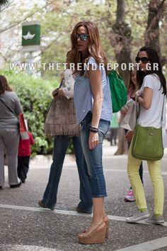 Despoina Vandi Celebrity News, Street Style, Celebrities, Outfits, Celebs, Suits, Urban Style, Street Style Fashion, Street Styles