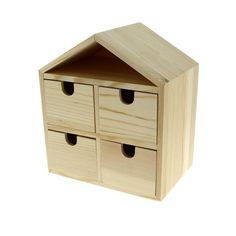 Compra nuestros productos a precios mini Cómoda Casa 4 cajones de madera para decorar - 20 x 17,5 x 12 cm - Entrega rápida, gratuita a partir de 89 € !