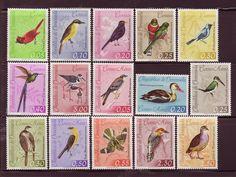 Venezuela postage stamps with birds.