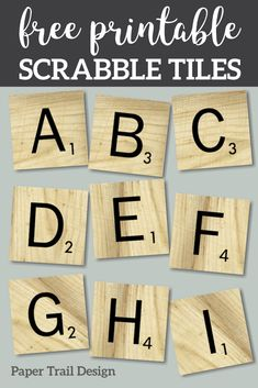 Print these alphabet tiles for a party banner, home decor, or classroom alphabet sign. Classroom Design, Classroom Decor, Classroom Displays, Printable Scrabble Tiles, Scrabble Letter Crafts, Scrabble Tile Wall Art, Party Banner, Alphabet Signs, Free Printable Alphabet Letters
