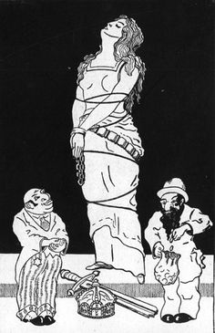 Germany, 1920, An antisemitic caricature.