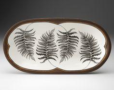 Laura Zindel Design - Rectangular Serving Dish: Wood Fern, $160.00 (http://www.laurazindel.com/rectangular-serving-dish-wood-fern/)